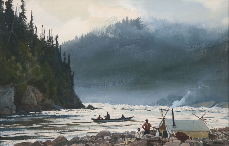 Indian Camp on the Moisie River